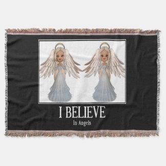 I believe in angels throw blanket