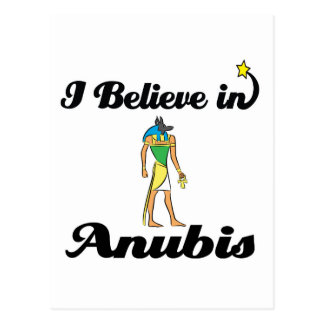 i believe in anubis postcard