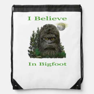 I believe in Bigfoot Drawstring Bag