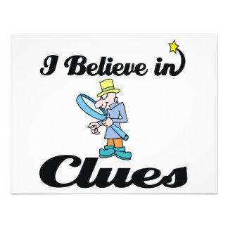 i believe in clues personalized invites
