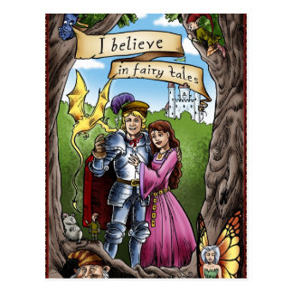 I BELIEVE IN FAIRY TALES Magical Gift Princess Postcard