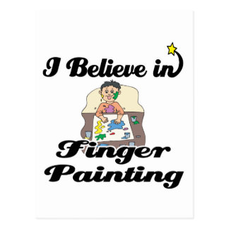 i believe in finger painting post cards