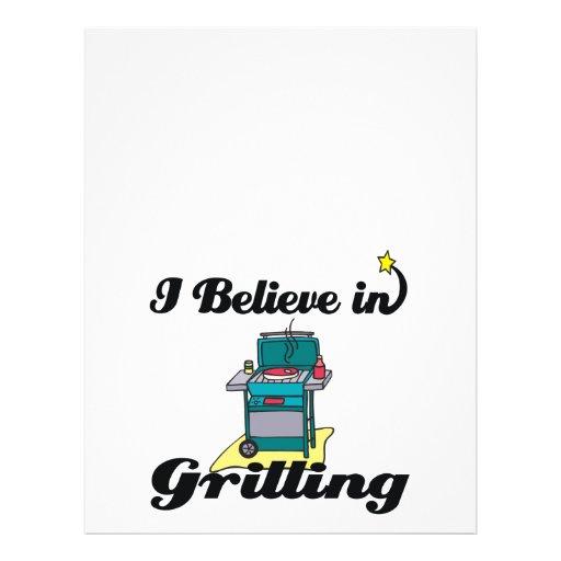 i believe in grilling flyer