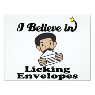 i believe in licking envelopes personalized announcement