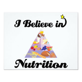 i believe in nutrition 11 cm x 14 cm invitation card