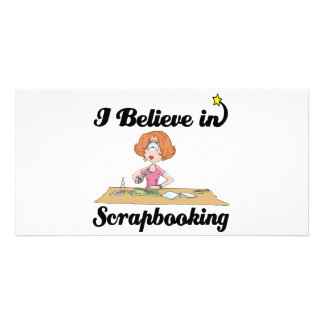 i believe in scrapbooking photo greeting card