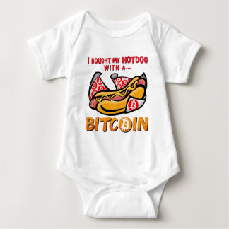 I Bought My Hotdog With a Bitcoin Baby Bodysuit