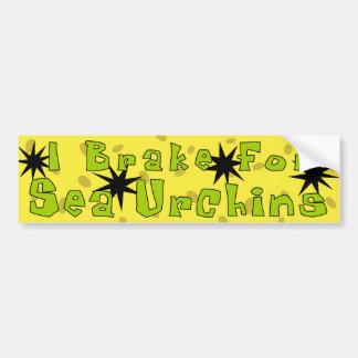 """I Brake For Sea Urchins"" Bumper Sticker"