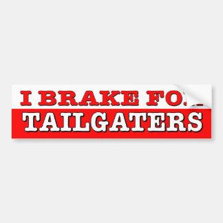 I Brake For Tailgaters. Funny driving car sticker. Bumper Sticker