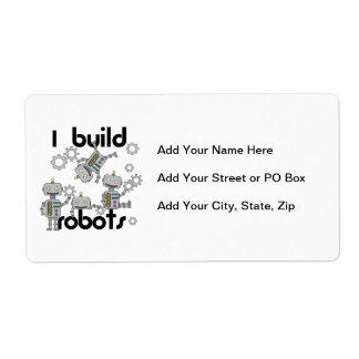 I Build Robots Shipping Label
