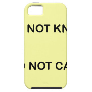 I C NOT KNOW. I C NOT CARE. iPhone 5 COVERS