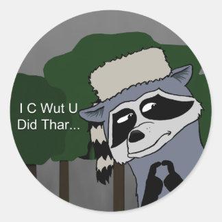 I C Wut U Did Thar sticker
