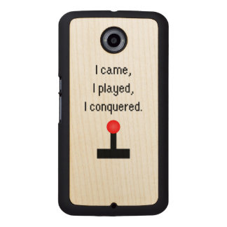 I Came I Played Wood Phone Case