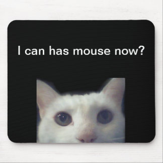 """I Can Has Mouse Now?"" Mousepad"
