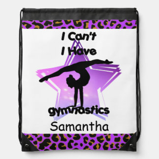 I Can't I have Gymnastics drawstring backpack