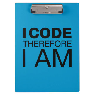 I Code Therefore I Am Clipboards