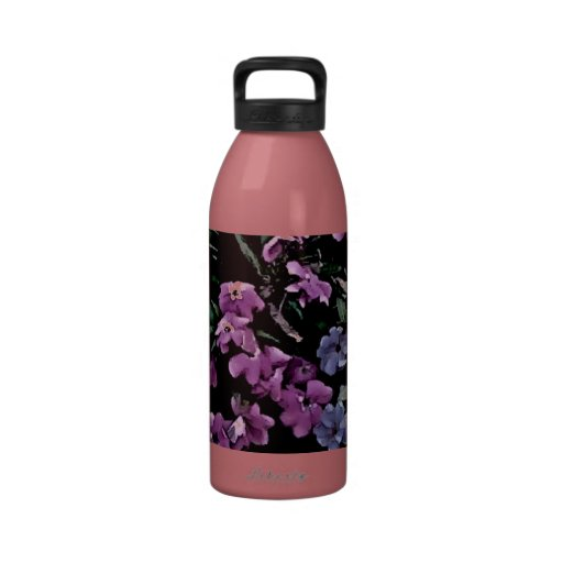 I Come to the Garden Alone Floral Drinking Bottle
