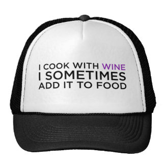 I COOK WITH WINE CAP