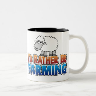 I d Rather be Farming Virtual Farming Mug