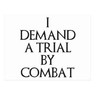 I Demand A Trial By Combat Postcard