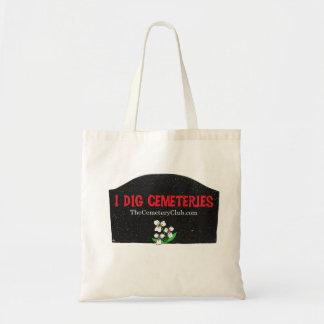 """I Dig Cemeteries"" Tote Bag"
