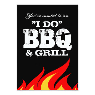 I do BBQ couples shower engagement invitations