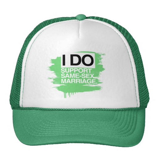 I DO SUPPORT SAME-SEX MARRIAGE MESH HATS