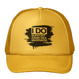 I DO SUPPORT SAME-SEX MARRIAGE MESH HAT