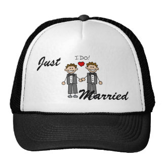 I Do Two grooms Trucker Hat