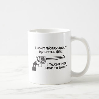 I Don't Worry About My Daughter Mugs