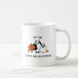 I dont eat my friends basic white mug