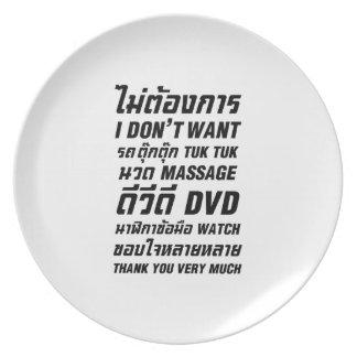 I Don't Want TUK TUK MASSAGE DVD WATCH Thank You Plate