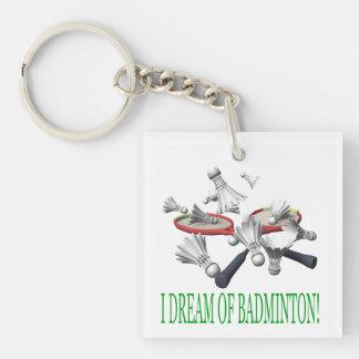 I Dream Of Badminton Key Ring