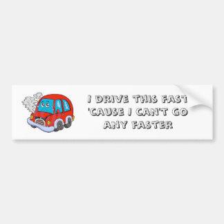 I drive this fast bumper sticker