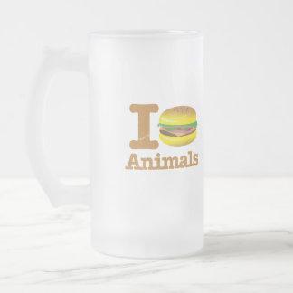 I Eat Animals Frosted Glass Mug