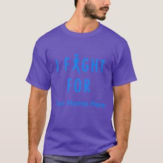 I Fight For [Custom Fighter's Name] - Blue T-Shirt