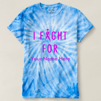I Fight For [Custom Fighter's Name] - Pink T-Shirt