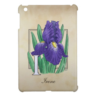 I for Iris Floral Monogram Cover For The iPad Mini