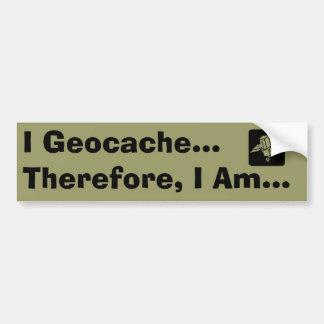I Geocache Bumper Sticker