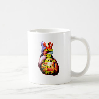 I Give My Heart To You Black Yellow The MUSEUM Zaz Mugs