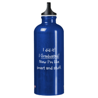 I Graduated Smart Grad Funny Quote Graduation Day SIGG Traveller 0.6L Water Bottle
