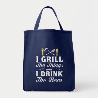 I Grill Drink Beer BBQ Drinking Beer Tote Bag