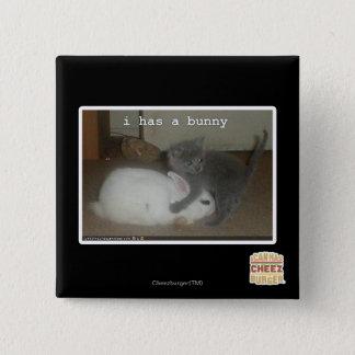 I has a bunny 15 cm square badge