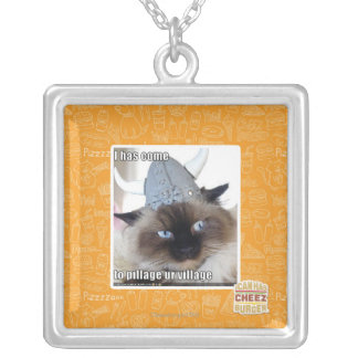 I has come to pillage ur village silver plated necklace