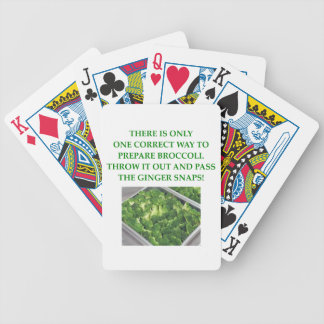 i hate broccoli bicycle playing cards