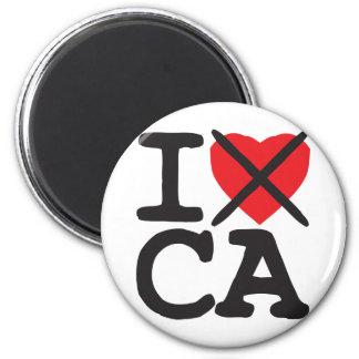 I Hate CA - California 6 Cm Round Magnet