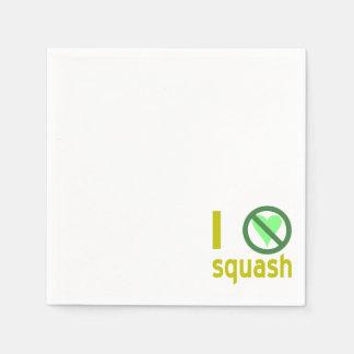 I Hate Squash Disposable Serviettes