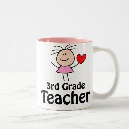 I Heart 3rd Grade Teacher Mug