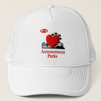 I Heart Amusement Parks Trucker Hat
