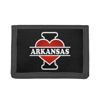 I Heart Arkansas Tri-fold Wallets